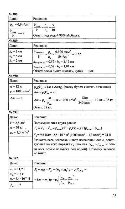 Решебник к сборнику задач по физике 7 класс перышкин скачать