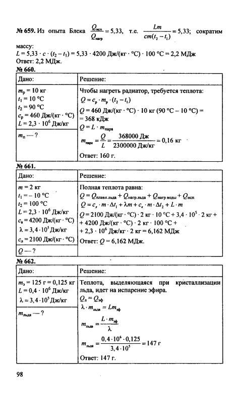Гдз по физике 8 класс перышкин сборник задач перышкин а в