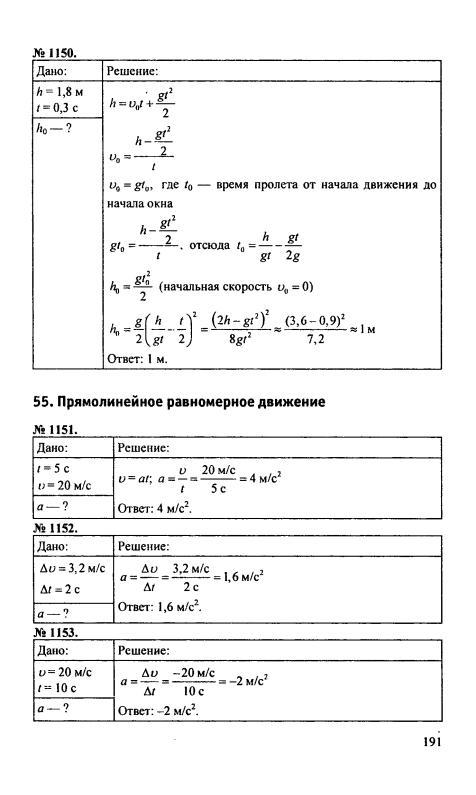 Сборнику 9 по класс физики решебник