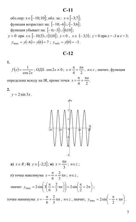 Решебник алгебра 10 класс мордкович самостоятельные работы