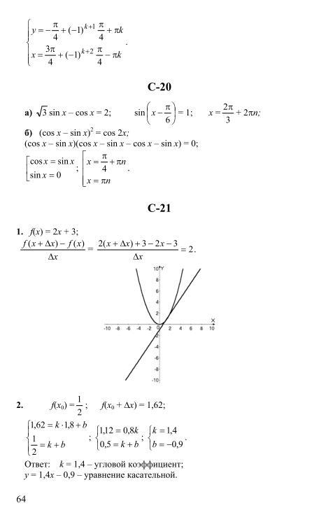 дидактические класс 10 по гдз алгебре