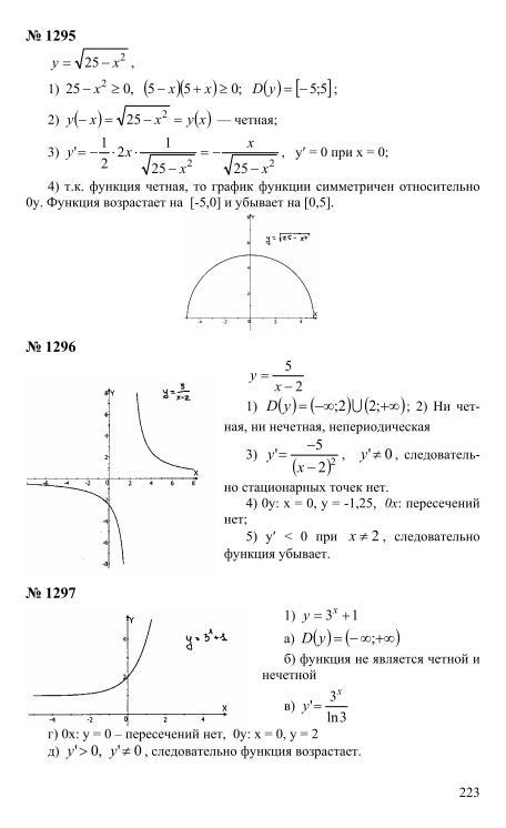 зинченко алгебра 11 класс решебник