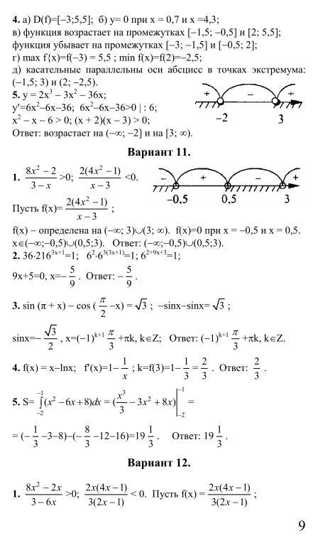 решебник к сборнику заданий для экзамена по математике 9 класс