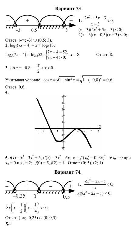 Решебник для экзамена по математике 11 класс беларусь