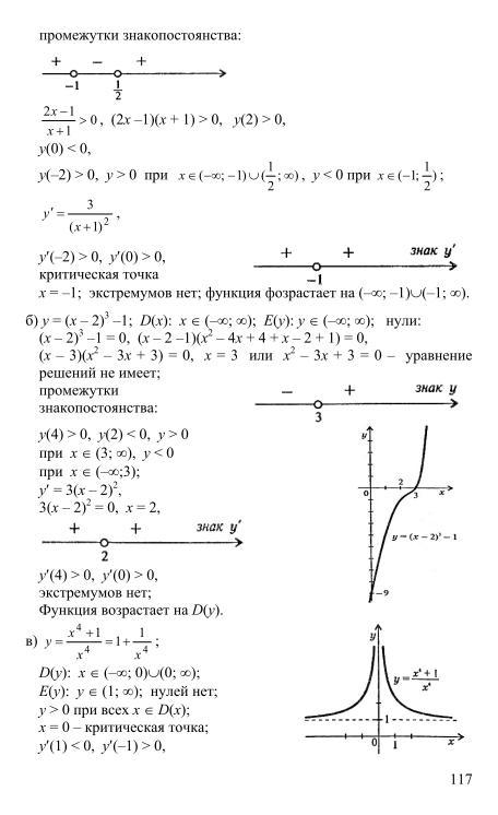Анализа алгебра онлайн начало и решебник