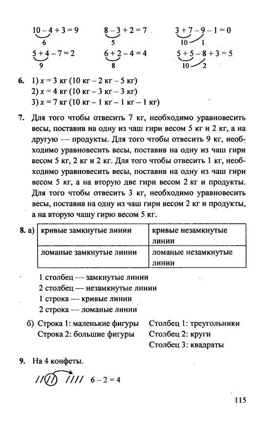Гдз 1 Класс Математика Петерсон Ответы