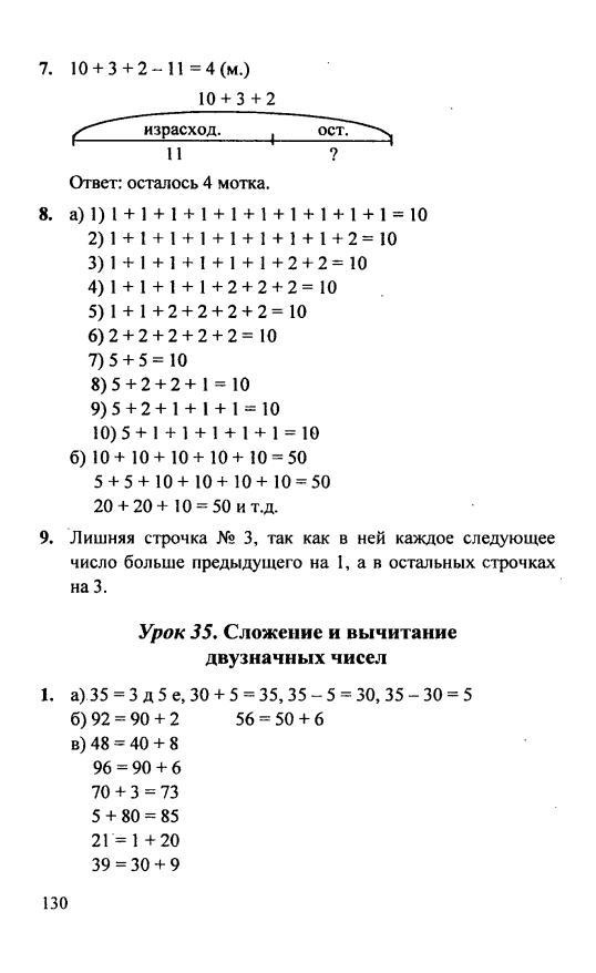 Петерсон Математика 1 Класс Решебник Ответы 2019