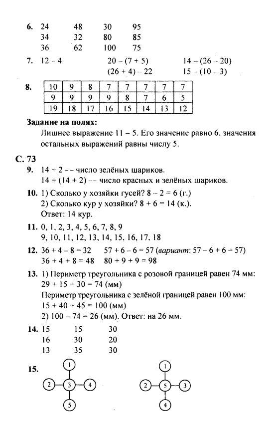 Домашние 4 математике задания 3 класс часть готовые по