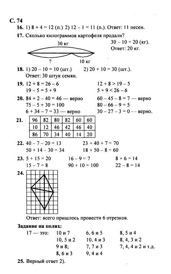 моро 4 2 класс 2 решебник часть ответы математика часть