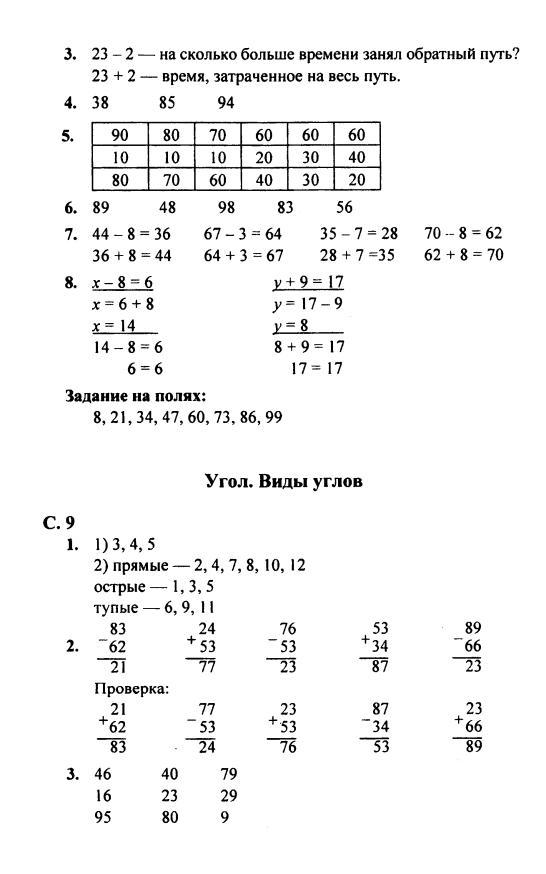 Решебник по математике 2 класс моро решение
