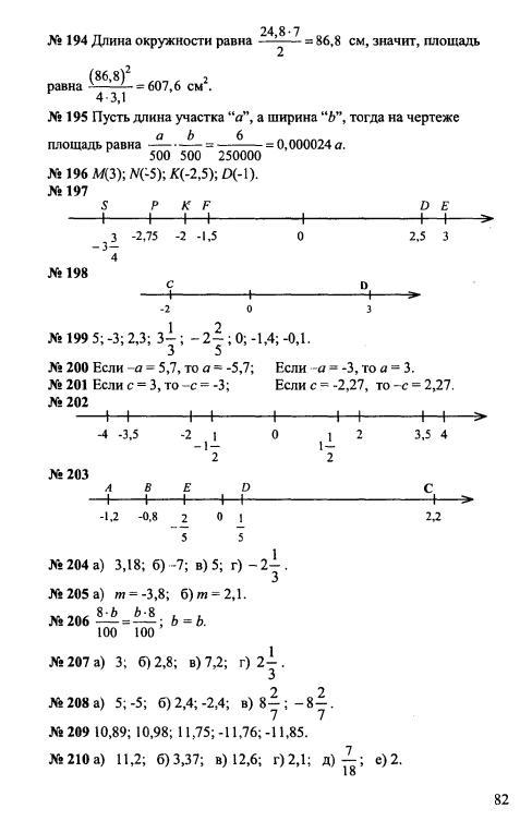 материалу 6 по класс дидактическому чесноков математика решебник