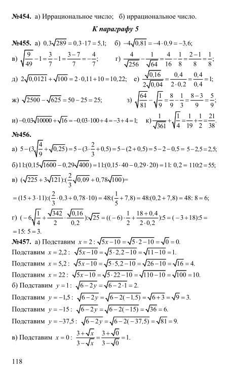 гдз 8 класс алгебра макарычев и миндюк нешков суворова