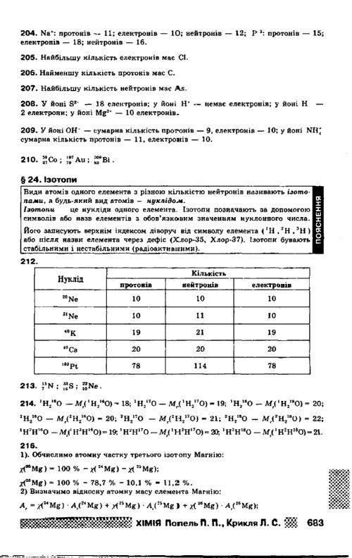 химия класс попель 8 книга гдз