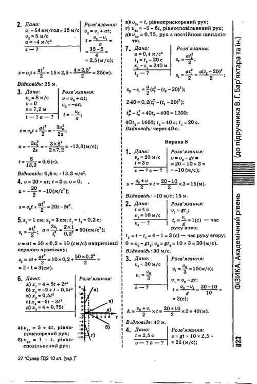 Физике класс довгий по решебник 7