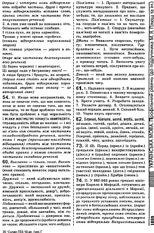 Гдз украинский язык 10 класс плющ